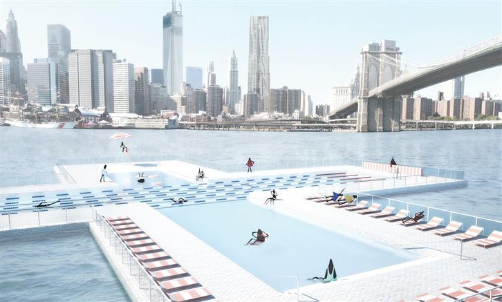 """Why did Heineken sponsor the """"New York, East River, +Pool""""?"""
